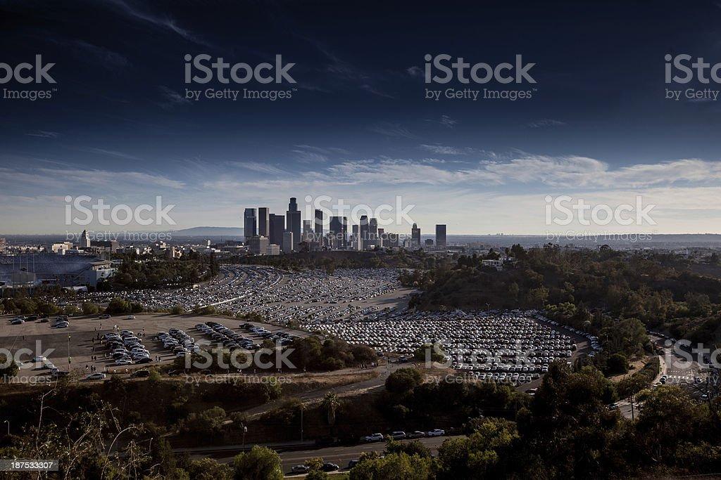 LA skyline stock photo
