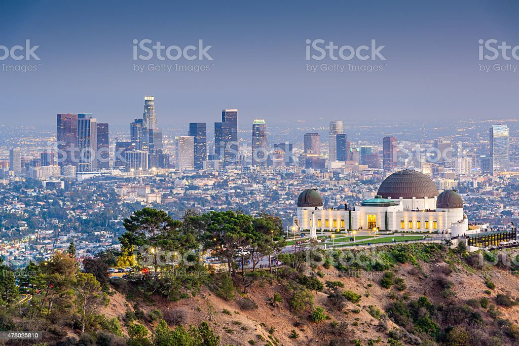 LA Skyline stock photo