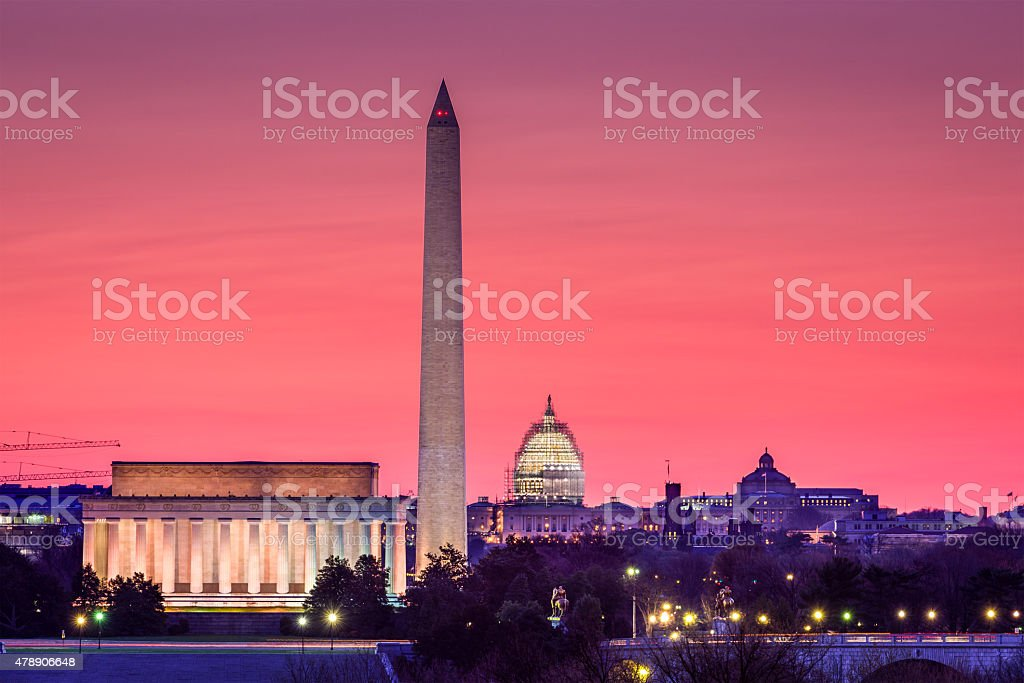DC Skyline stock photo
