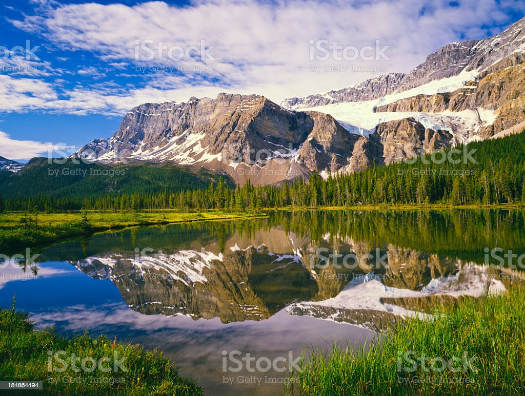 Skyline picture of the Canadian Rockies stock photo