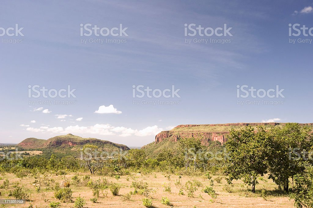 Skyline picture of the Roncador Sierra stock photo
