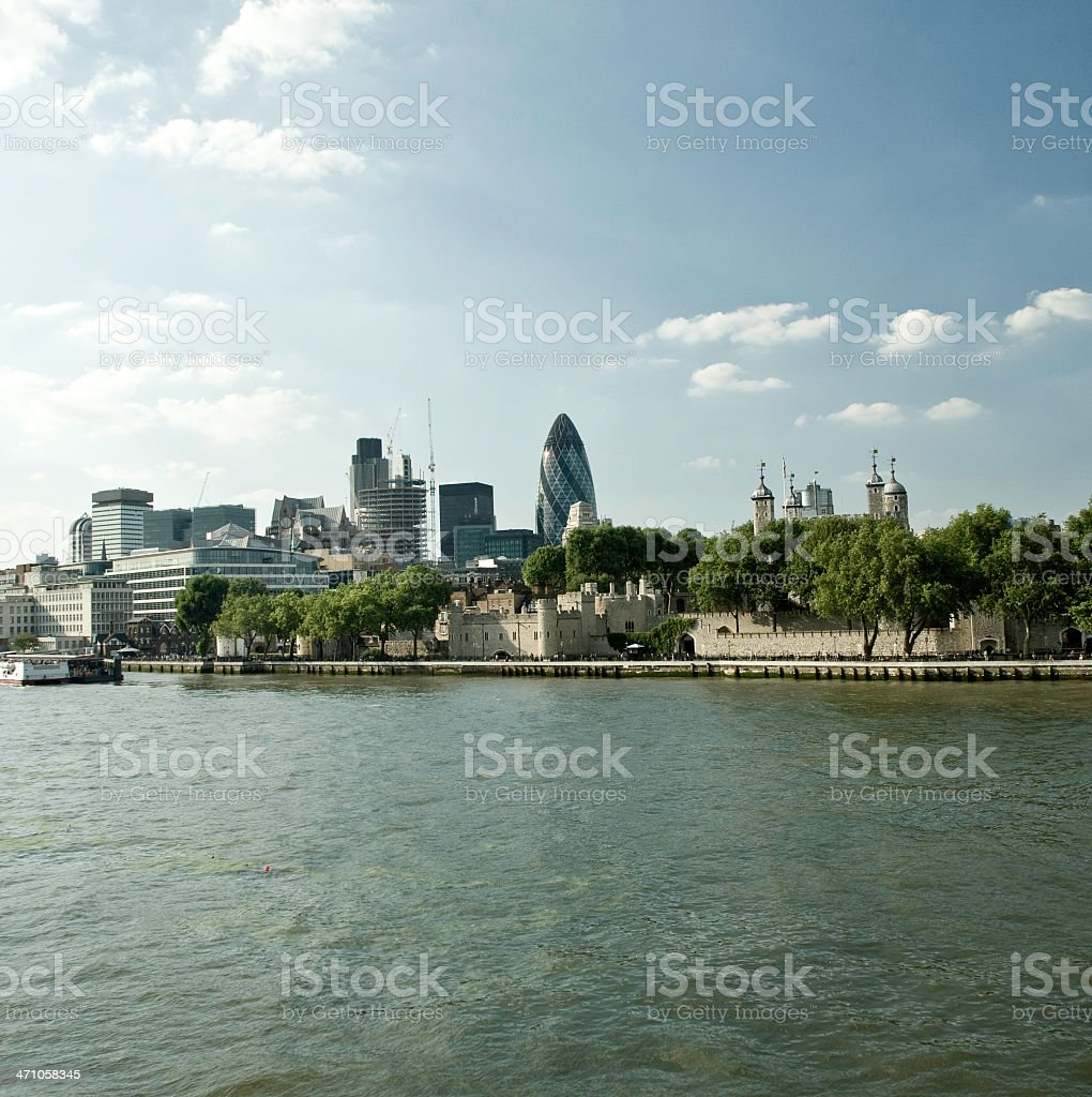 Skyline River Thames - Squared London Series V royalty-free stock photo