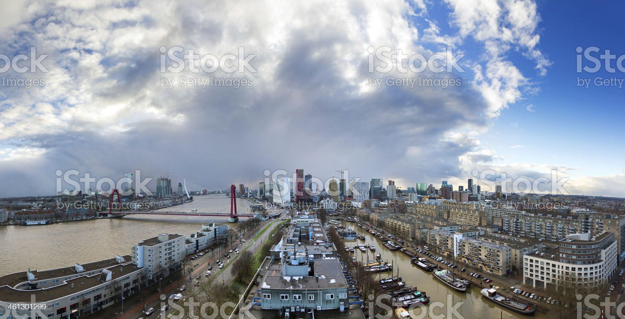 Skyline Rotterdam panorama royalty-free stock photo