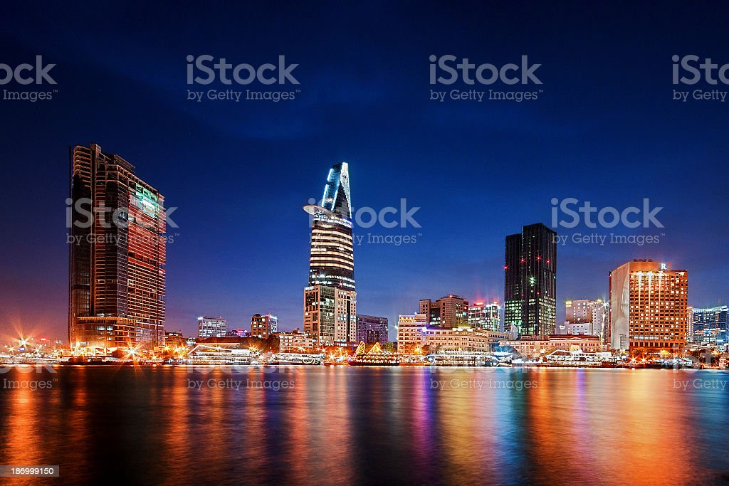 Skyline Saigon stock photo
