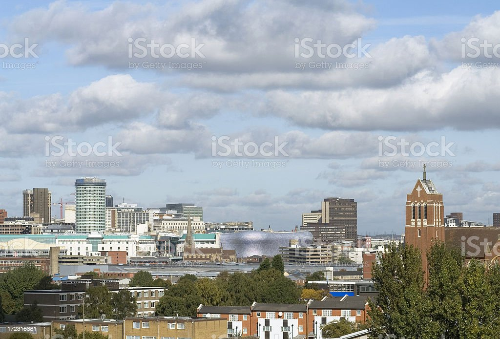 Skyline scene - Birmingham West Midlands royalty-free stock photo