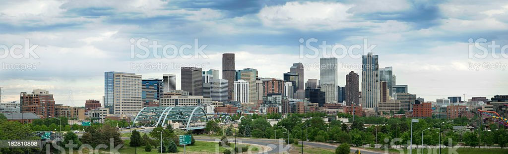 Skyline shot of Denver, Colorado stock photo