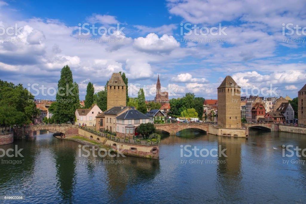 skyline Strasbourg in  Alsace stock photo
