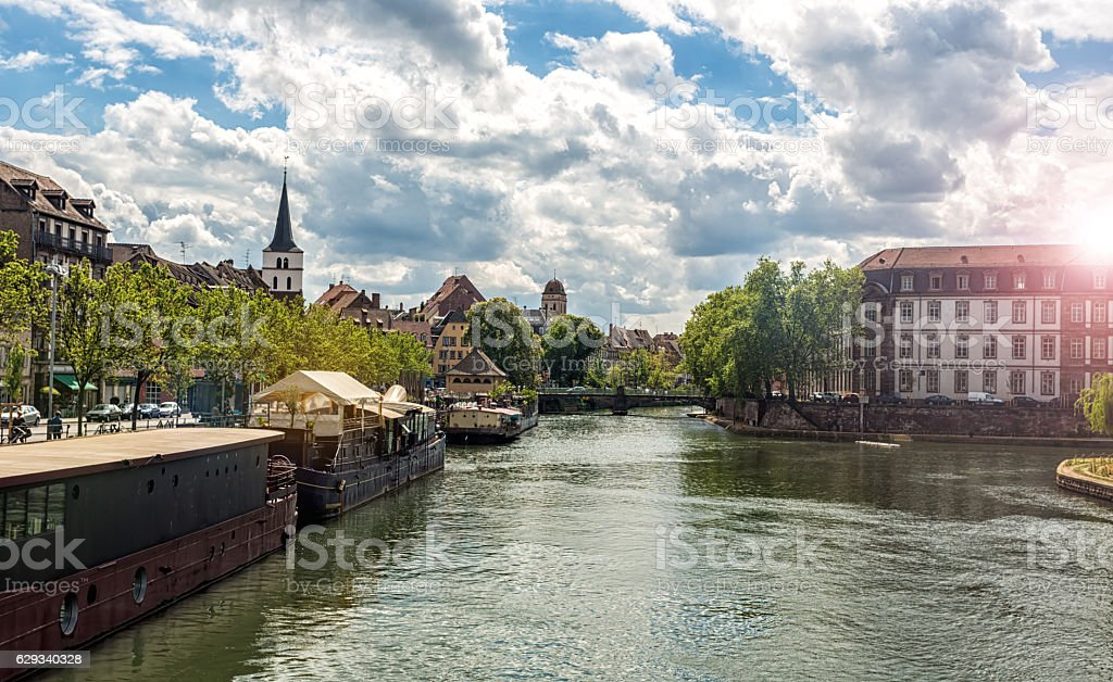 Skyline Strasbourg stock photo