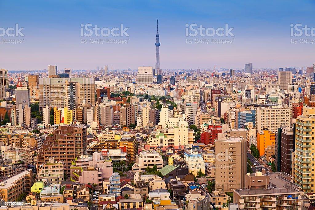 Skyline, Tokyo - Japan stock photo