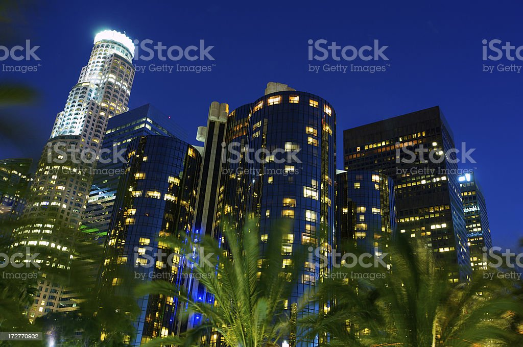 LA skyline Up and Close royalty-free stock photo