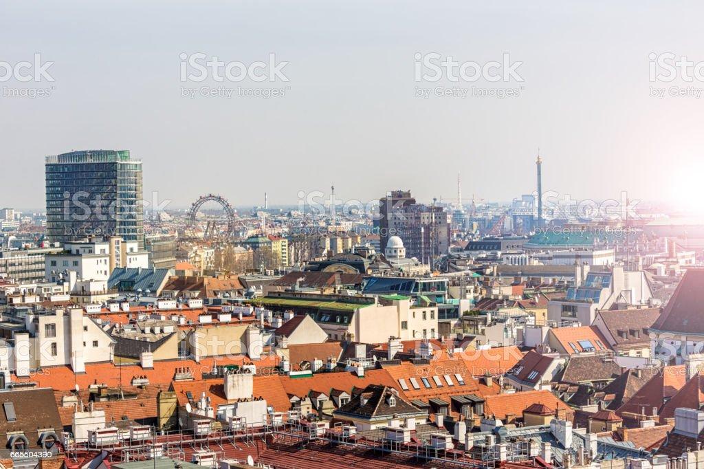 Skyline Vienna stock photo