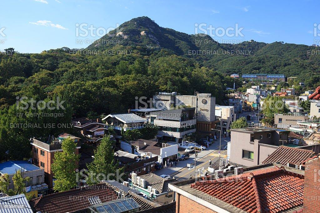 Skyline view of Seoul city, in Korea royalty-free stock photo