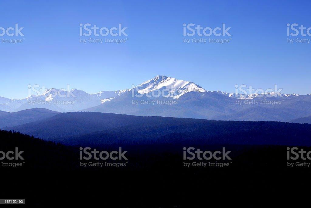 Skyline view of the Rocky Mountain range royalty-free stock photo