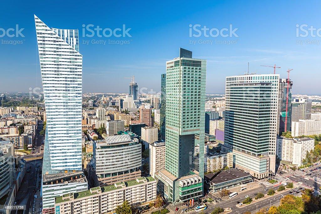 Skyline Warsaw stock photo