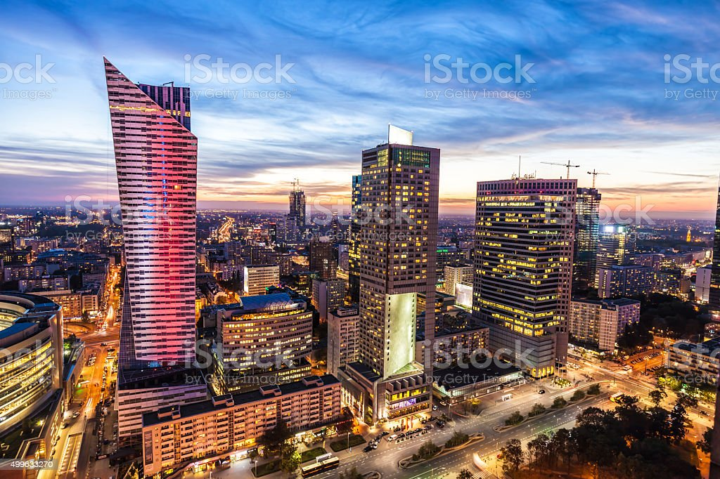 Skyline Warsaw stock photo