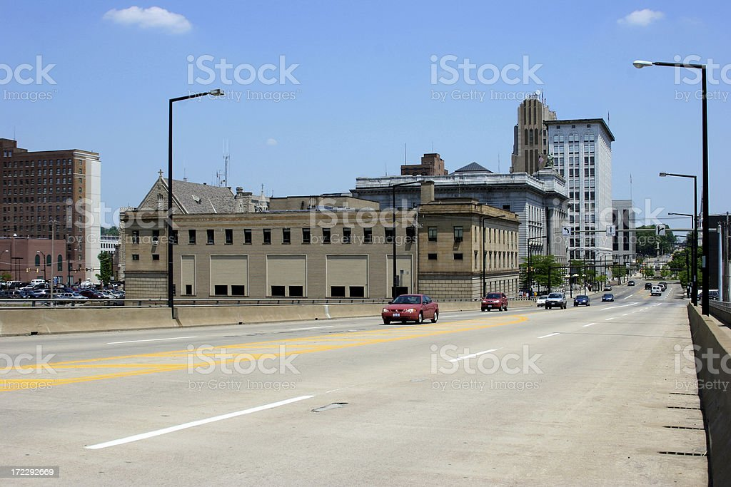 Skyline Youngstown Ohio stock photo