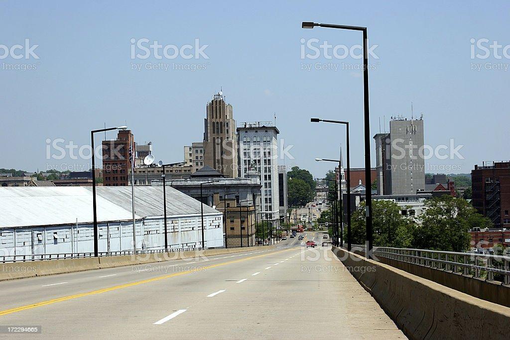 Skyline Youngstown, Ohio stock photo