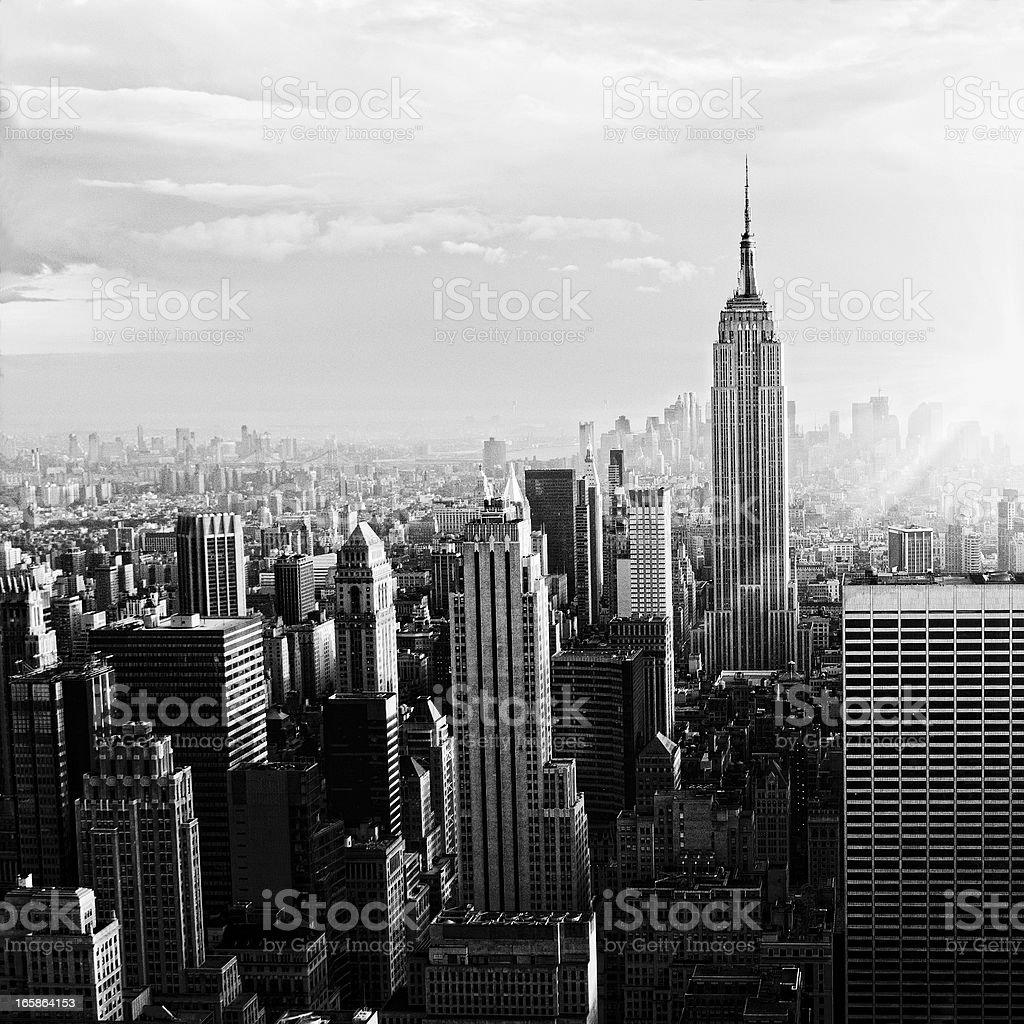 NYC Skyline.Black And White royalty-free stock photo