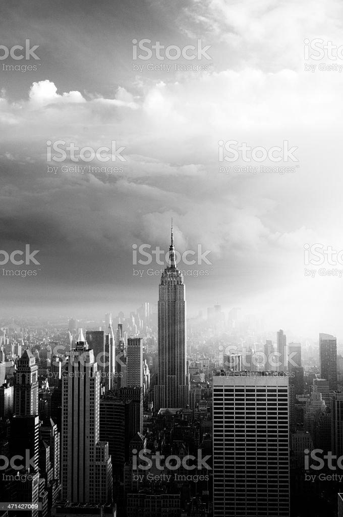 NYC Skyline.Black And White. stock photo