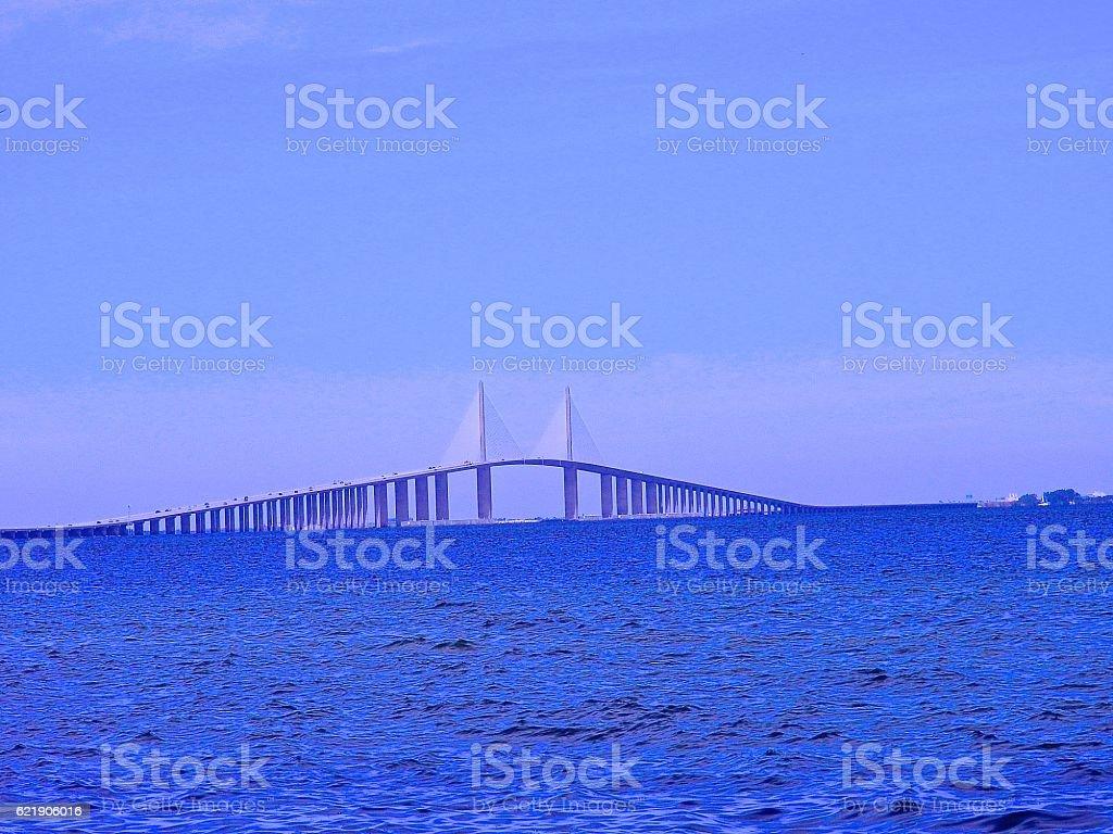 Skyliner Bridge St. Petersburg, FL stock photo