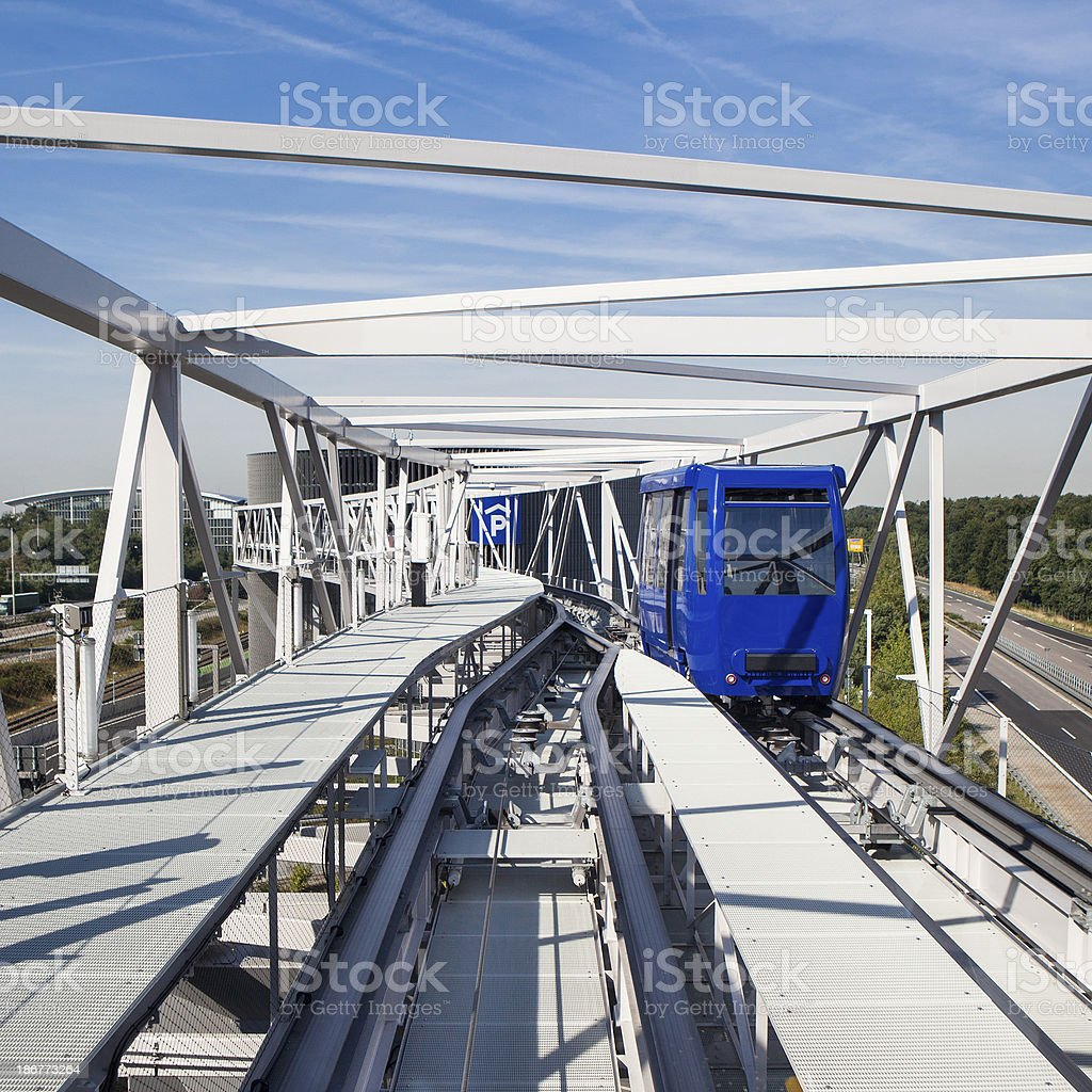 Skylink metro shuttle Airport Frankfurt royalty-free stock photo