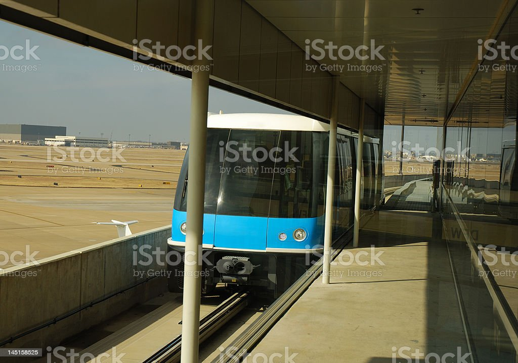 Skylink train royalty-free stock photo