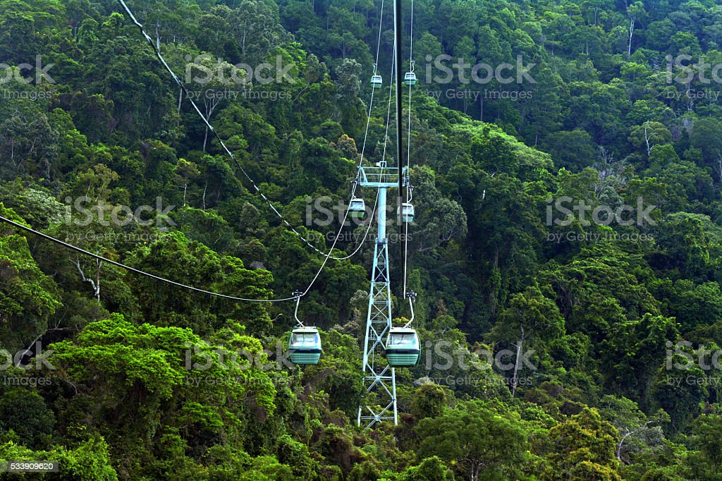Skyrail Rainforest Cableway Barron Gorge National Park Queensland stock photo