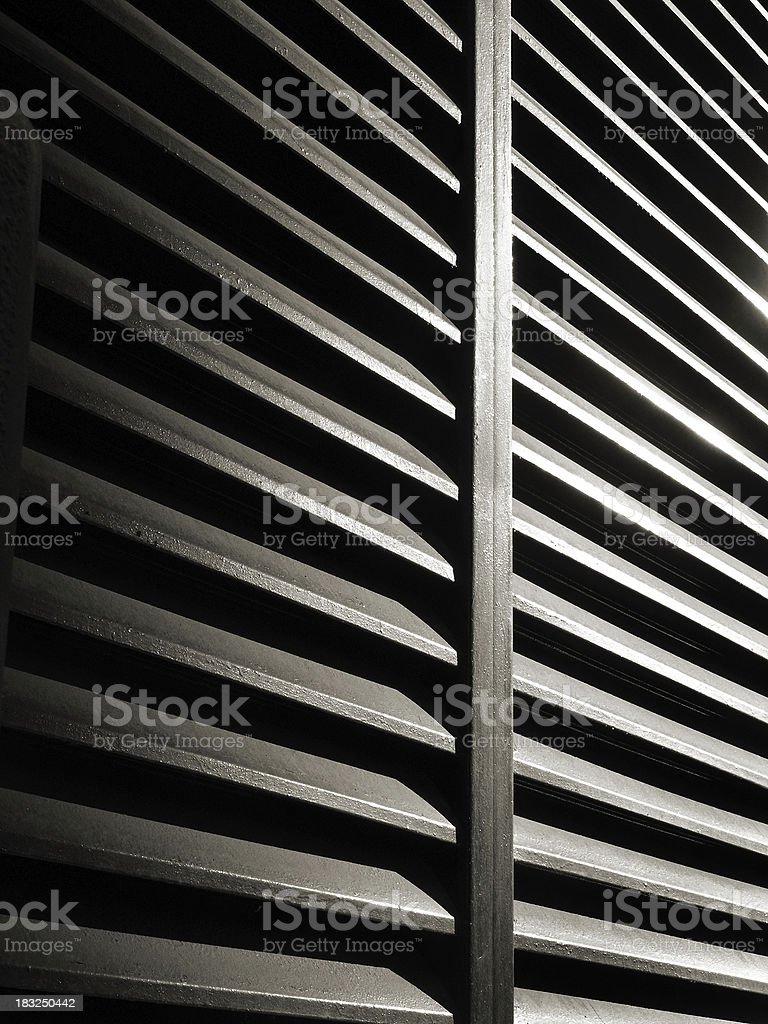 Skyrise Building Air Vent royalty-free stock photo
