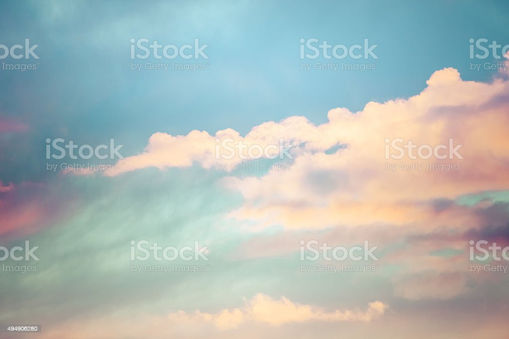 Skyscape - Sky & Clouds In Pastel Colors stock photo
