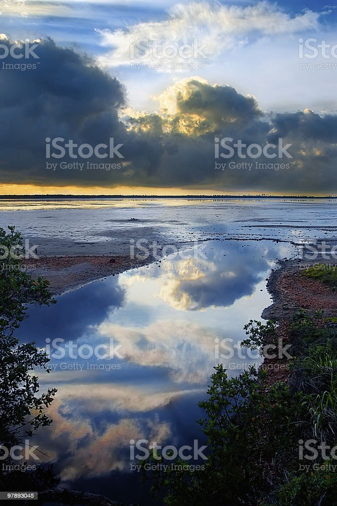 Skyscape water reflection royalty-free stock photo