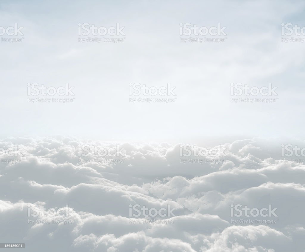 skyscape with clouds stock photo