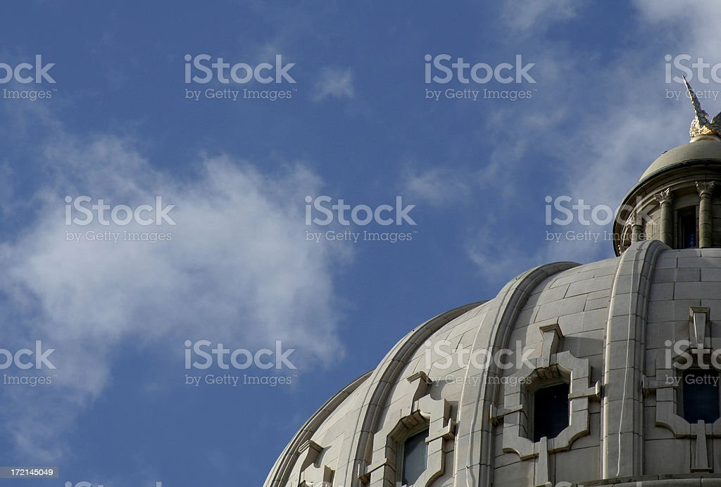 Skyscape with Government Dome stock photo