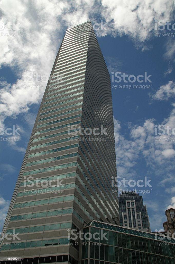 Skyscraper and Clouds stock photo