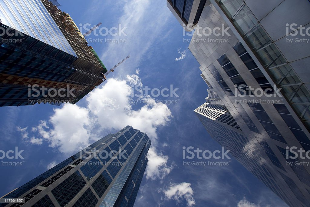 Skyscraper and Construction royalty-free stock photo