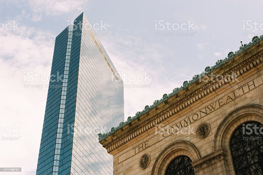 Skyscraper and old building royalty-free stock photo