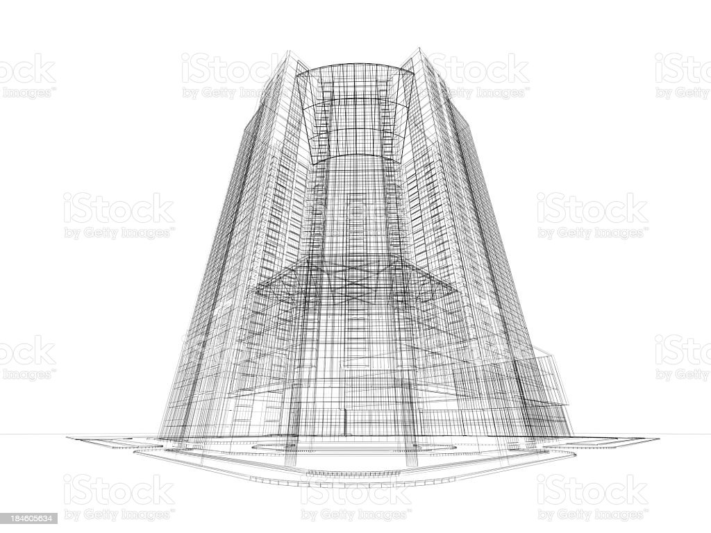 Skyscraper Architecture Blueprint Stock Photo Istock