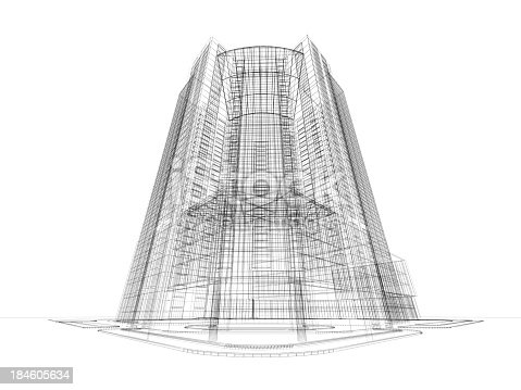Architecture Blueprints Skyscraper L