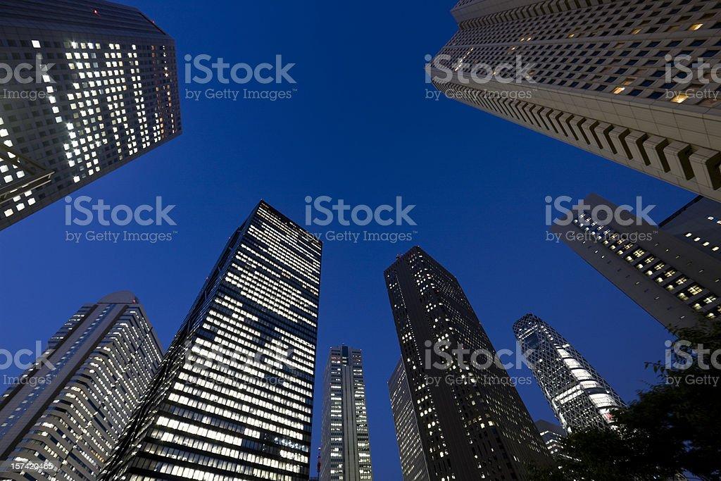 Skyscraper at dusk royalty-free stock photo