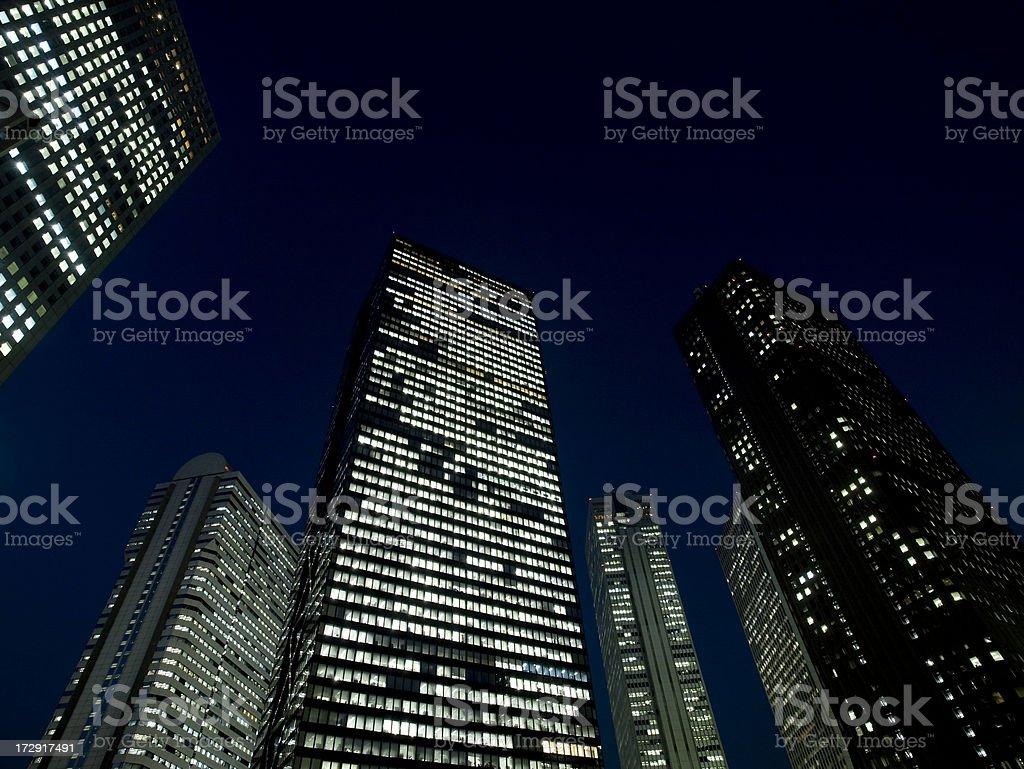 Skyscraper at Night stock photo