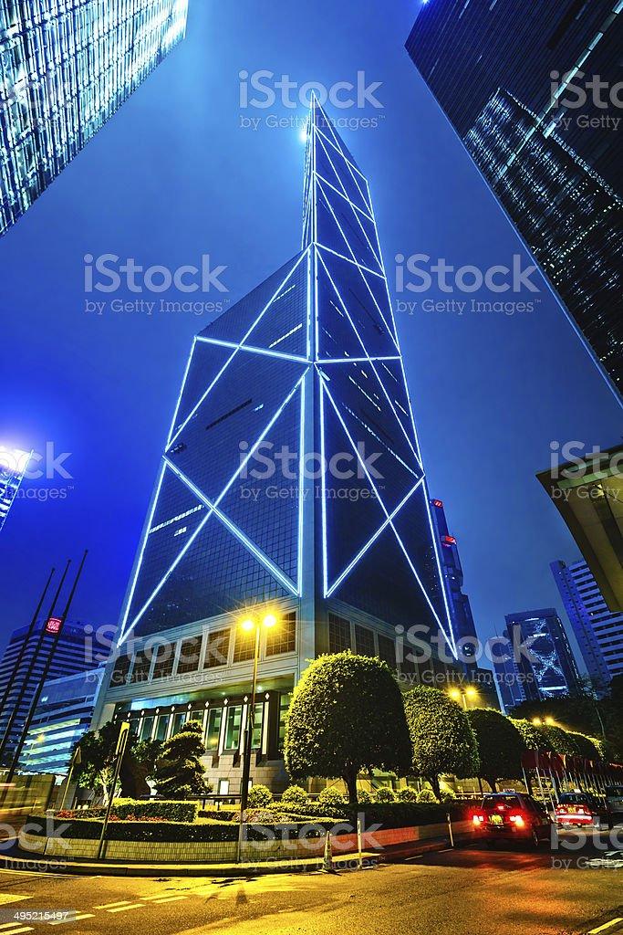 Skyscraper Bank of China (Hong Kong) Limited, BOCHK stock photo
