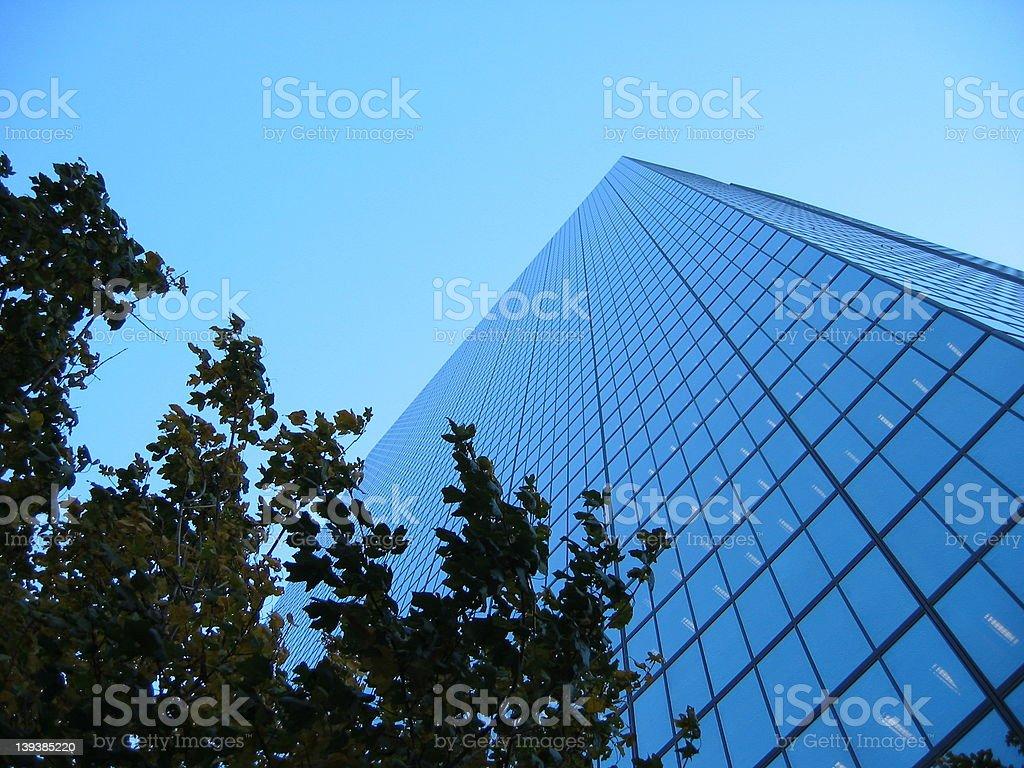 Skyscraper & Blue Sky royalty-free stock photo