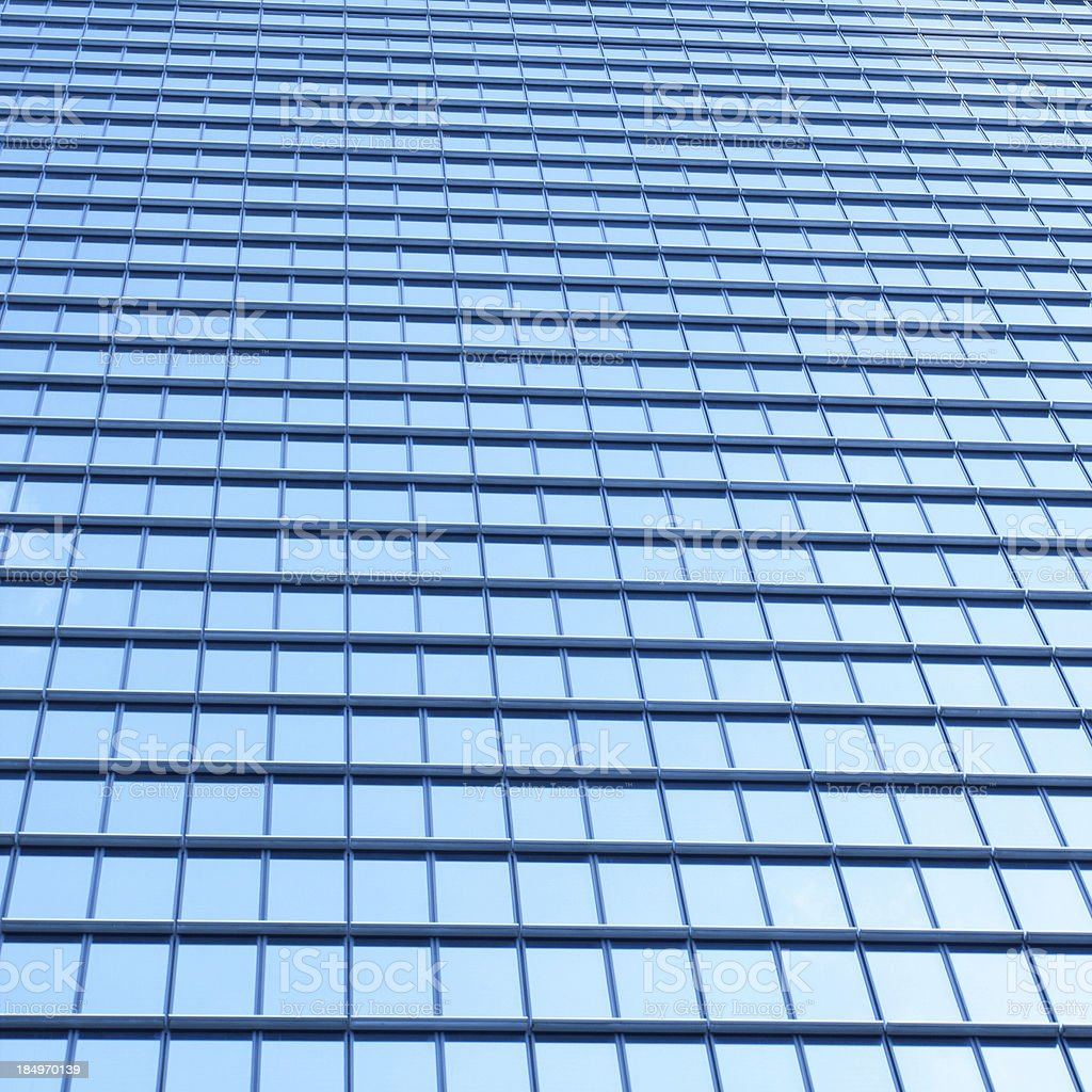 Skyscraper Building Exterior with windows background textured royalty-free stock photo