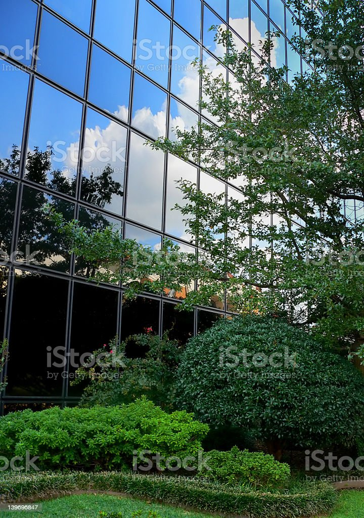 Skyscraper building with reflection royalty-free stock photo