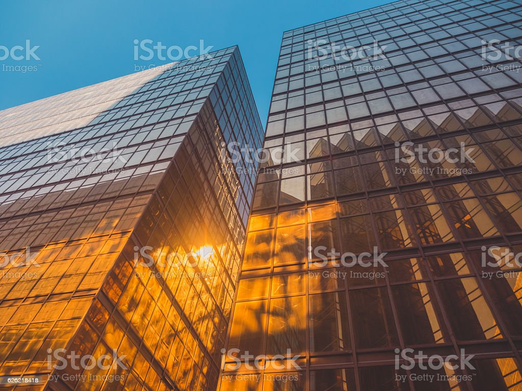Skyscraper Buildings and Sky View stock photo