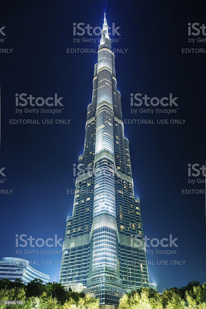 Skyscraper Burj Khalifa, Dubai stock photo
