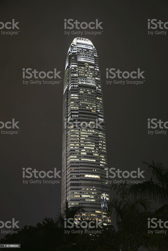 skyscraper by night royalty-free stock photo