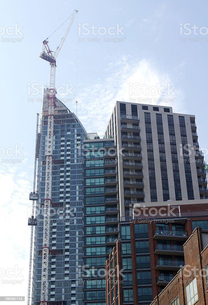 Skyscraper Construction in Toronto stock photo