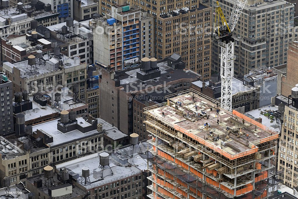 Skyscraper construction (XXXL) royalty-free stock photo