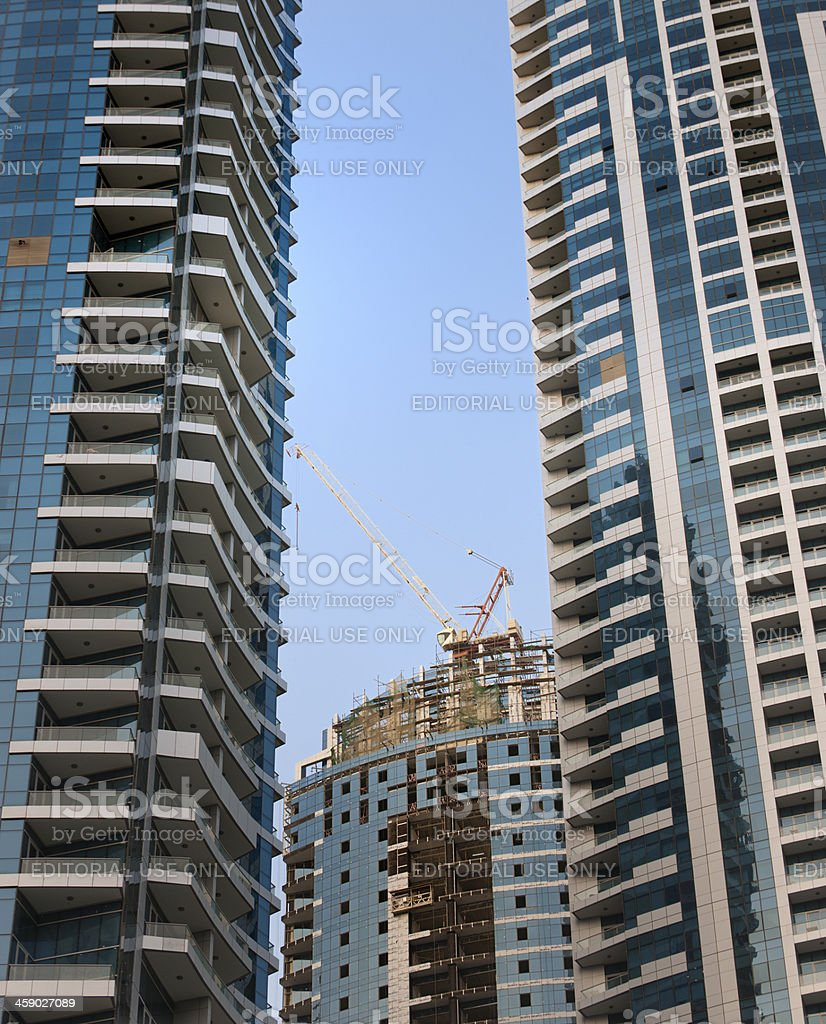 skyscraper construction site stock photo