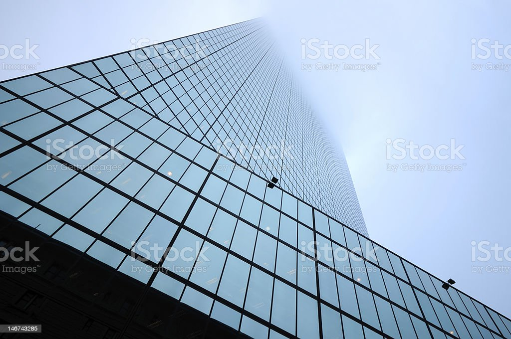 Skyscraper Disappearing in the Fog stock photo